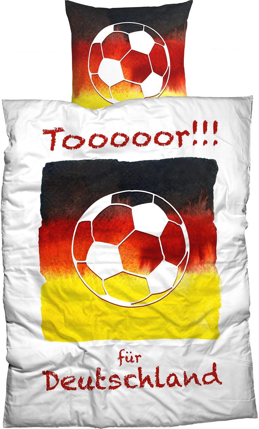 Bettwäsche, Casatex, »Tooooor«, mit Fußball Motiv