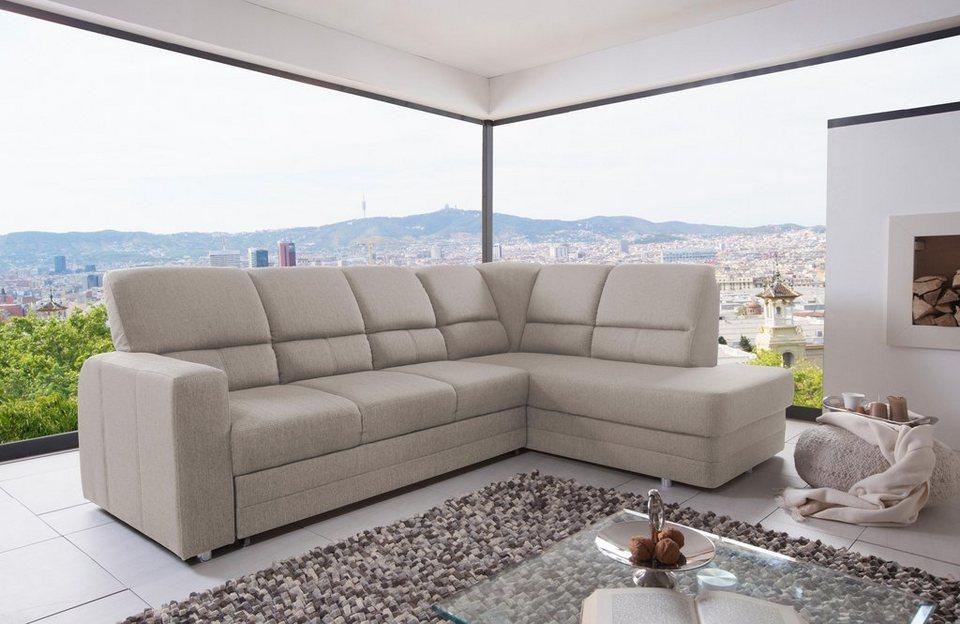 benformato home polsterecke mit bettfunktion und federkern online kaufen otto. Black Bedroom Furniture Sets. Home Design Ideas