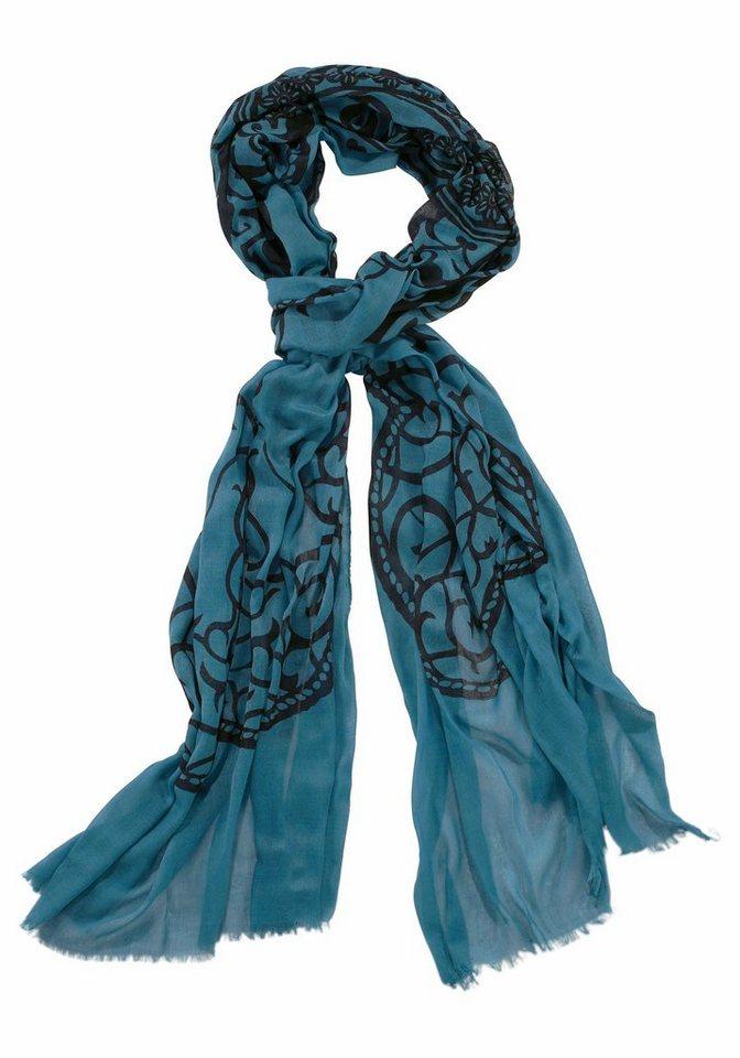 J. Jayz Modeschal mit auffälligem Muster in petrol