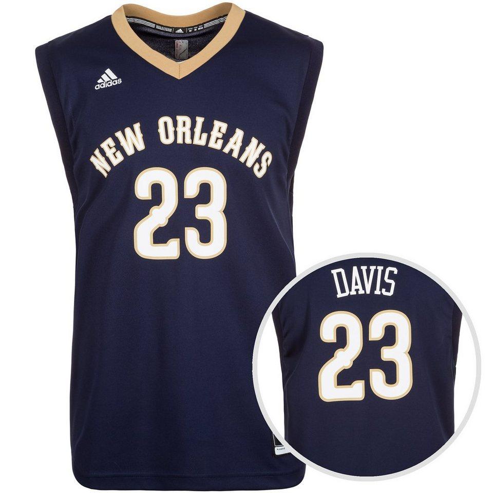 adidas Performance New Orleans Davis Replica Basketballtrikot Herren in dunkelblau / gold