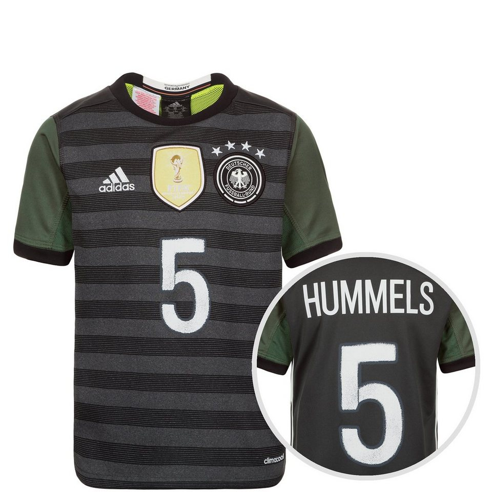 adidas Performance DFB Trikot Away Hummels EM 2016 Kinder in grau / weiß / grün