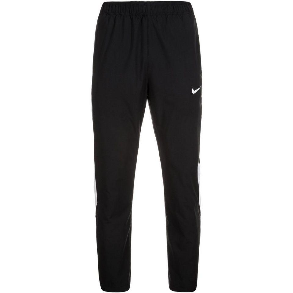 NIKE Woven Tennishose Herren in schwarz / weiß