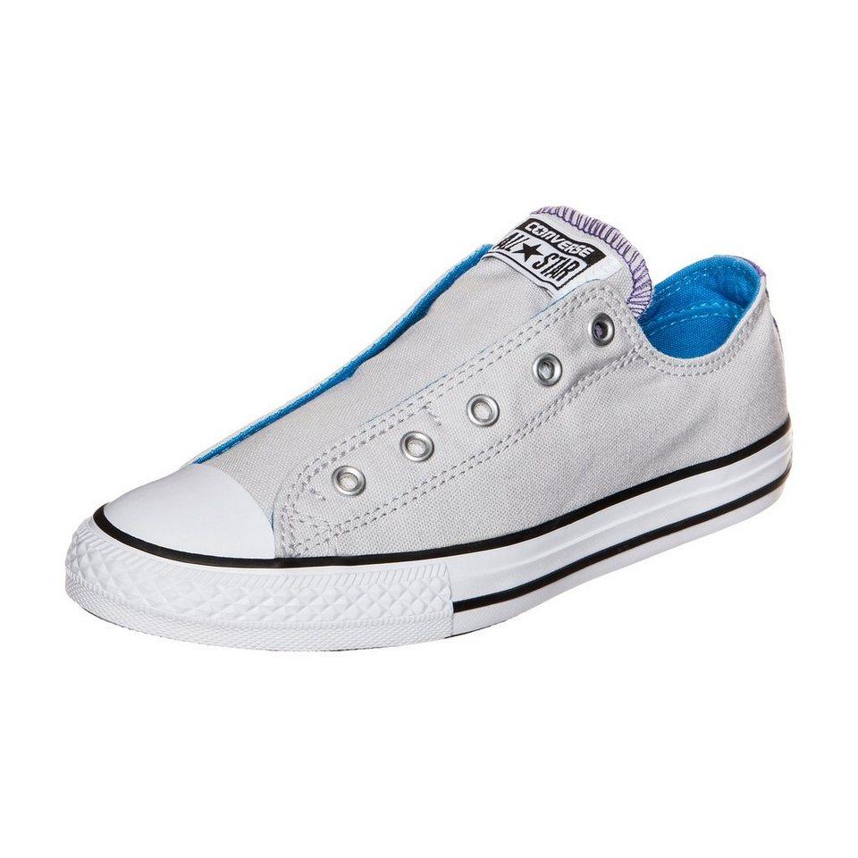 CONVERSE Chuck Taylor All Star Slip Sneaker Kinder in grau / blau / lila