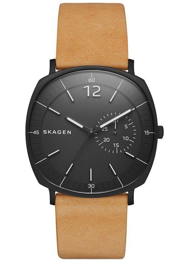 Skagen Armbanduhr, »RUNGSTED, SKW6257« in hellbraun