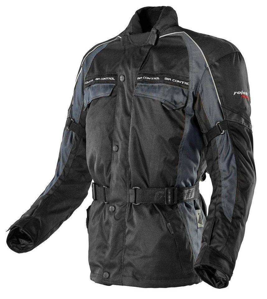 Roleff Motorradjacke »Reno« in grau/schwarz