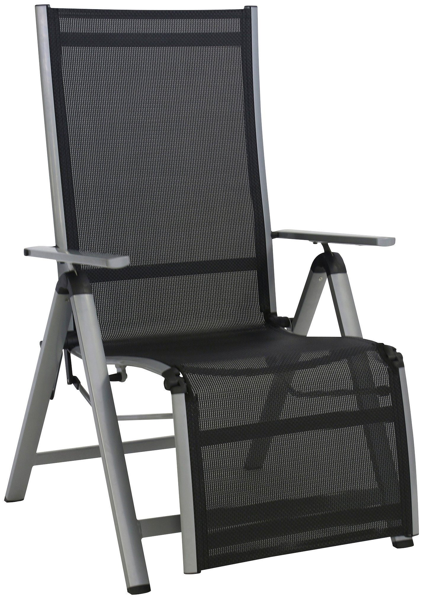 Relaxsessel »Monza Comfort XL«, Alu/Textil, verstellbar, mit Fußteil