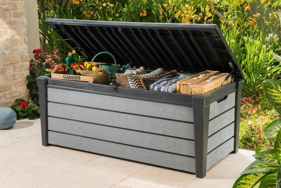auflagenbox brushwood 145x60x70 cm kunststoff anthrazit online kaufen otto. Black Bedroom Furniture Sets. Home Design Ideas
