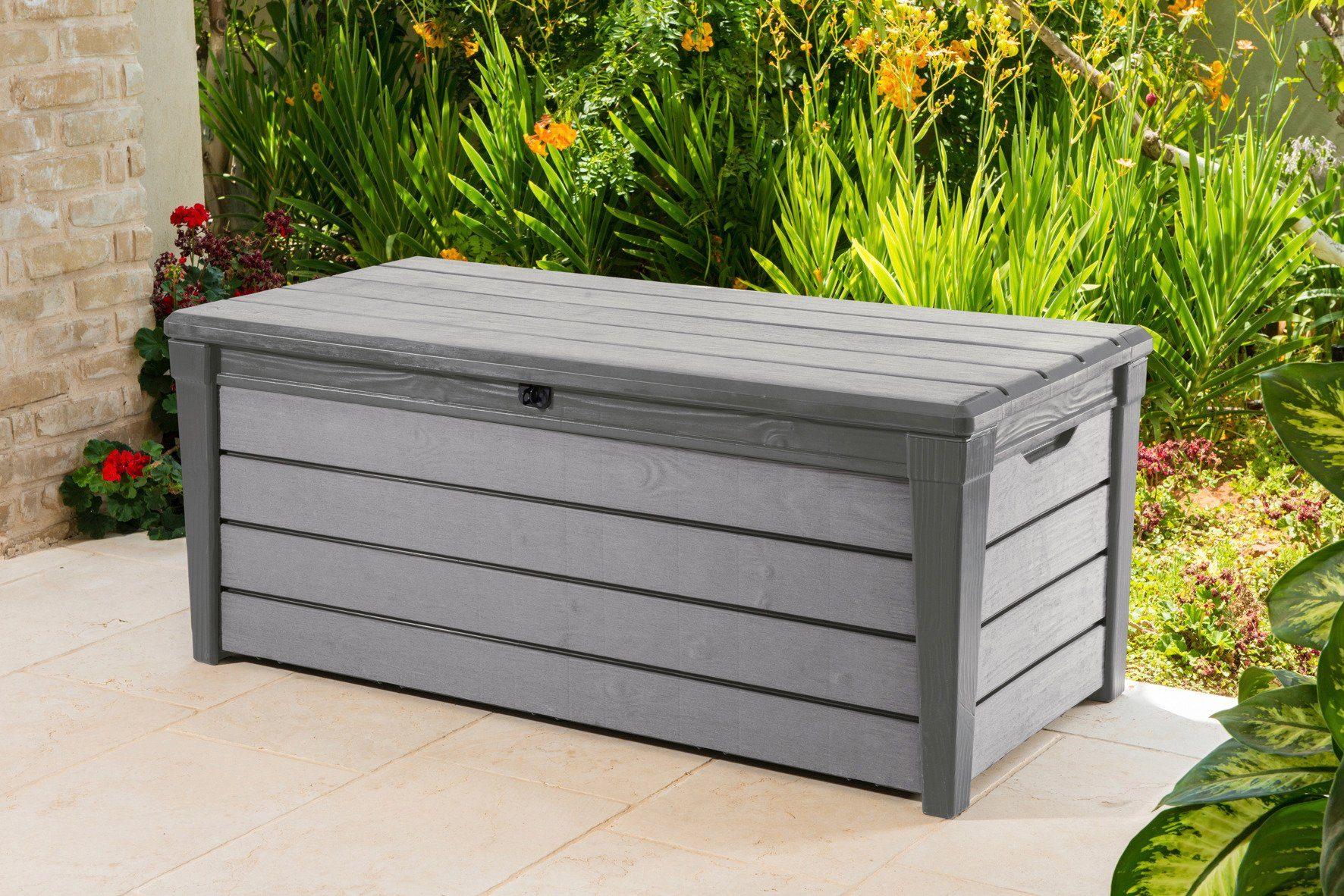 Auflagenbox »Brushwood«, 145x60x70 cm, Kunststoff, taupe