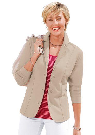 Collection L. Jersey-Blazer trageangenehm und überzeugend pflegeleicht