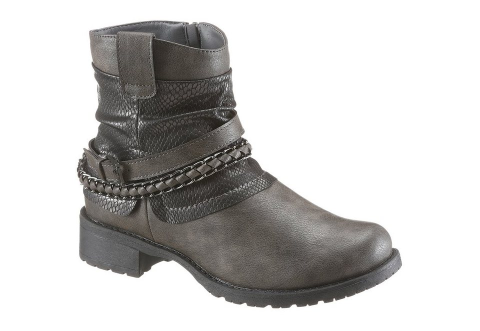 CITY WALK Bikerboots in taupe