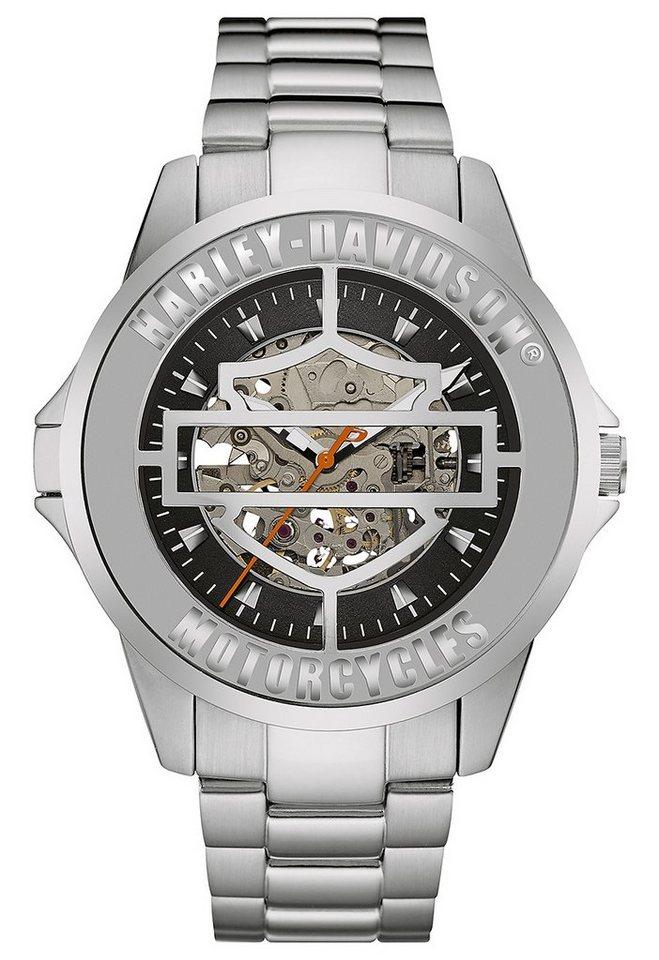 Harley Davidson Automatikuhr »Cover Watch, 76A154« in silberfarben