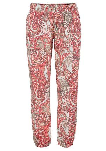 S.oliver Étiquette Rouge Bodywear Noble Pyjama Avec Motif Paisley Et Dentelle