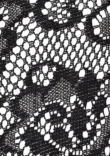 Label S oliver Bodywear Kimonojacke Qualität Mit Fließender In Red Schwarz Spitzenpasse CordQBexWE