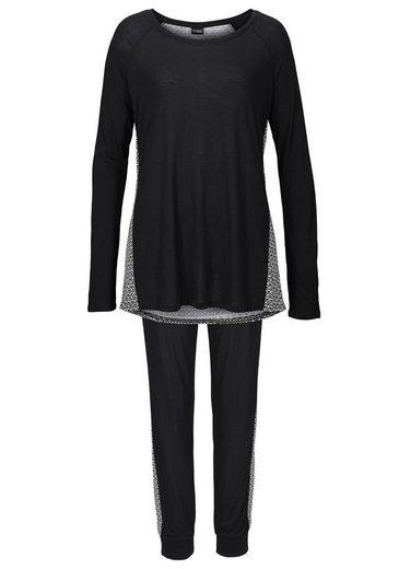 Vivance Dreams Pyjama mit schwarz-weißem Ornamentdruck