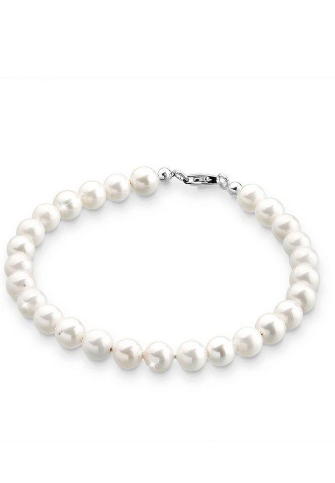 Elli Armband »Muschelkernperlen 925 Sterling Silber« in Weiß