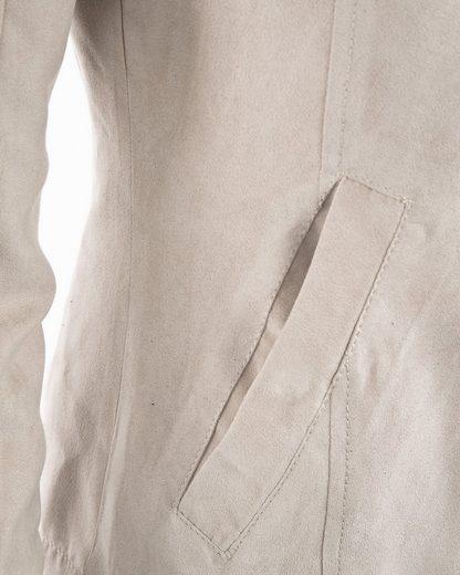 MAZE Zipjacke aus weichem Velourleder-Imitat Ottana