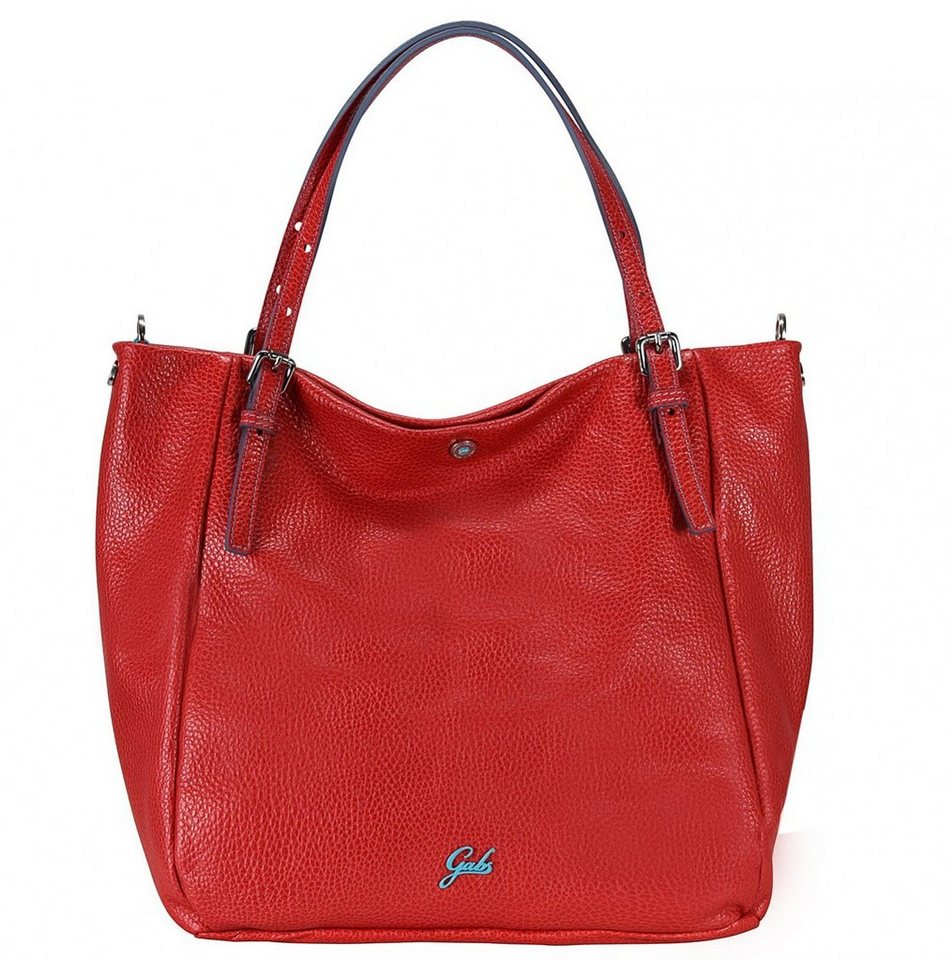 Gabs Dalia L Schultertasche Leder 30 cm in red