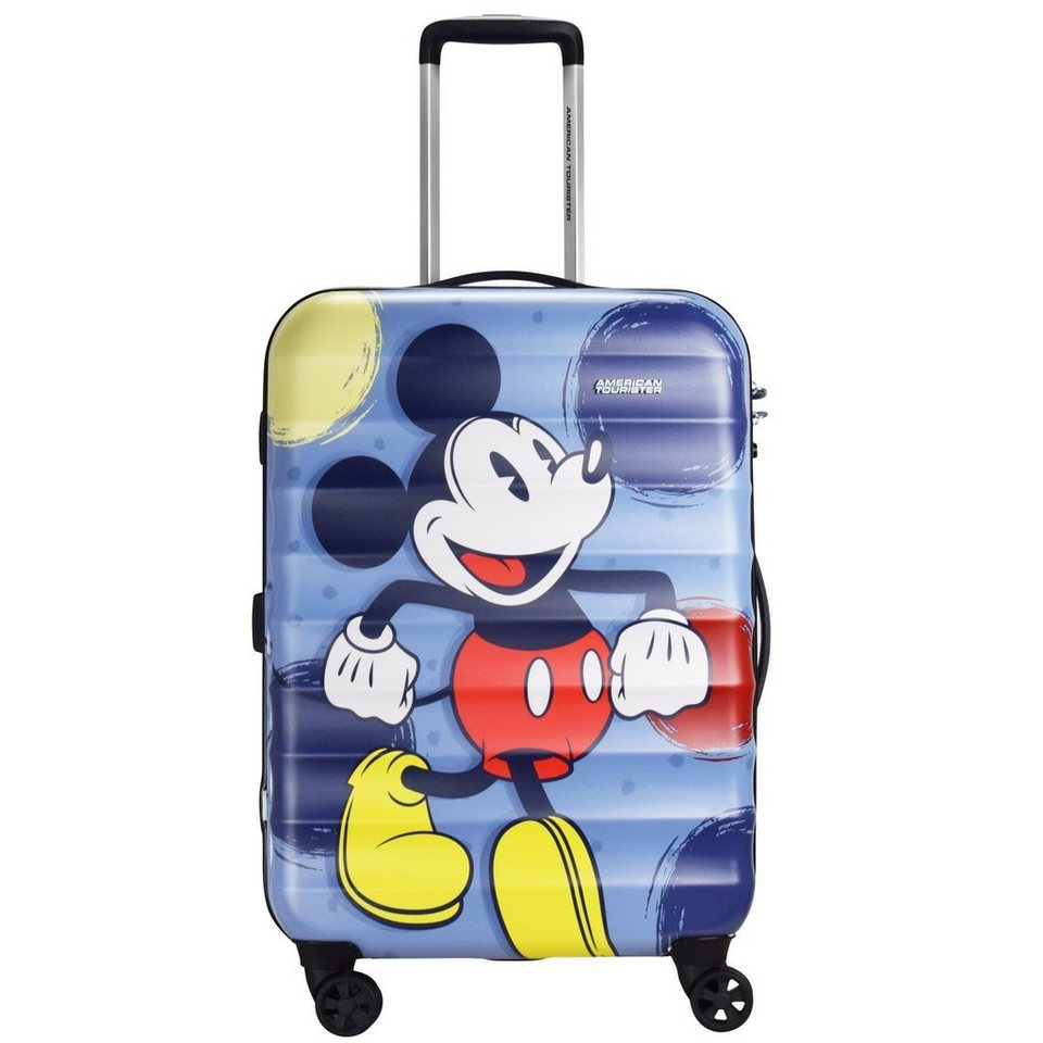 American Tourister Palm Valley Disney Spinner 4-Rollen Trolley 67 cm in mickey style