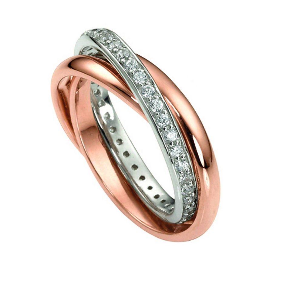 CELESTA Ring »925/- Sterling Silber rotvergoldet« in rot