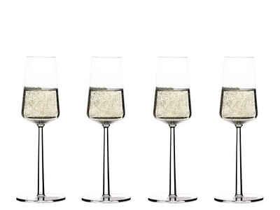 IITTALA Glas »iittala Essence Champagnerglas 21 cl, 4er Set«, Kristallglas
