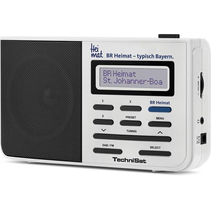 TechniSat Portables DAB+ und UKW Digitalradio »DigitRadio 211 Deutschlandradio Edition« in weiß