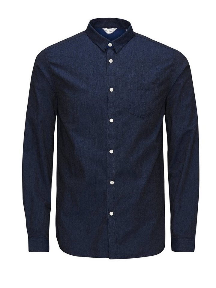 Jack & Jones Vielseitiges Slim-Fit- Freizeithemd in Navy Blazer