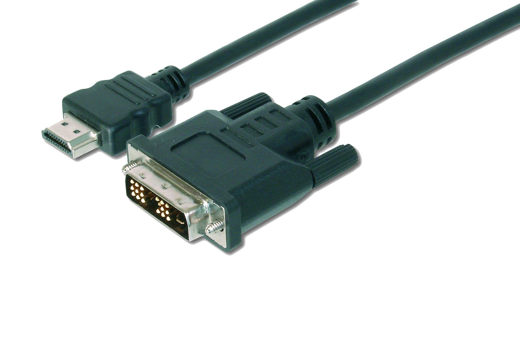 Ednet HDMI »HDMI Adapterkabel, Typ A-DVI(18+1), St/St, 2.0m«