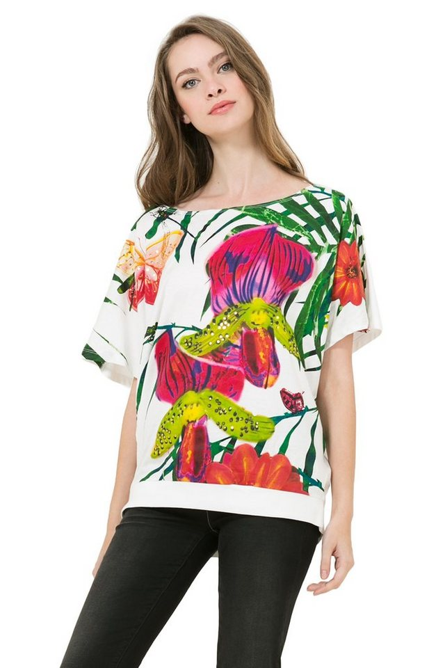 Desigual T-Shirt »TS EUGENIA« in Weiß