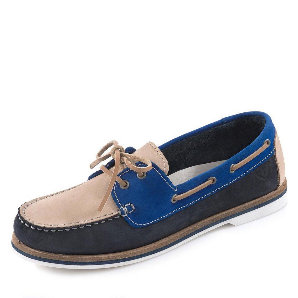 Tamaris Folk Bootsschuh in blau/beige