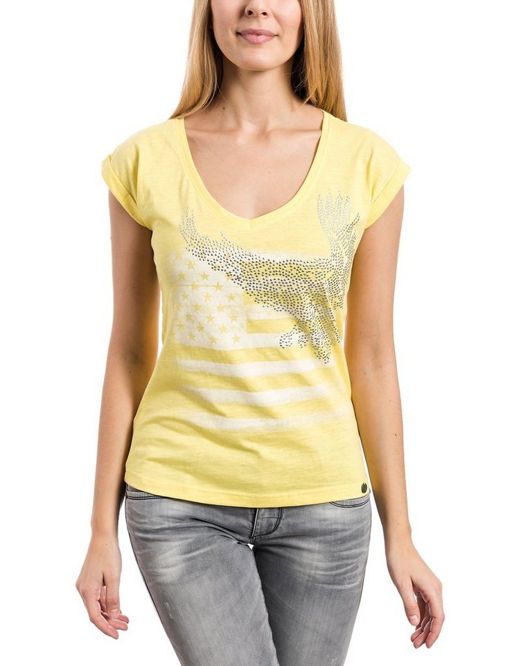TIMEZONE T-Shirts (mit Arm) »T-shirt« in lime yellow