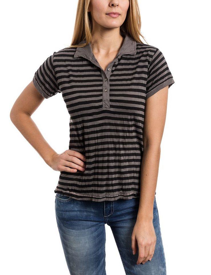 TIMEZONE Poloshirts (mit Arm) »Polo shirt« in harcoal grey stripe