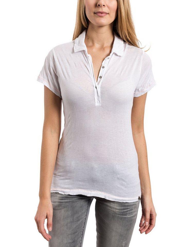 TIMEZONE Poloshirts (mit Arm) »Polo shirt« in pure white