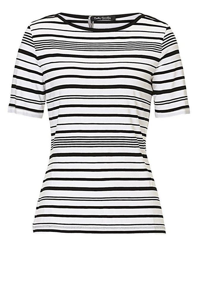 Betty Barclay Damenshirt in Schwarz/Weiß - Grau