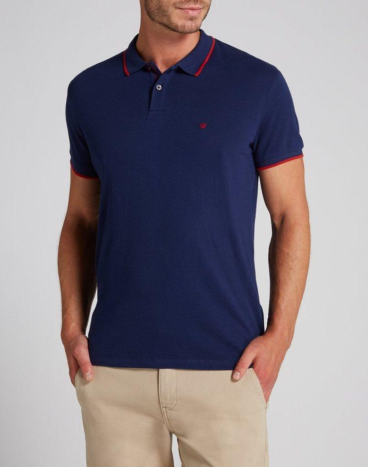 Wrangler Poloshirt »S/S PIQUE POLO MEDIEVAL BLUE« in MEDIEVAL BLUE