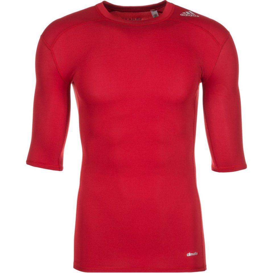 adidas Performance TechFit Base Trainingsshirt Herren in rot