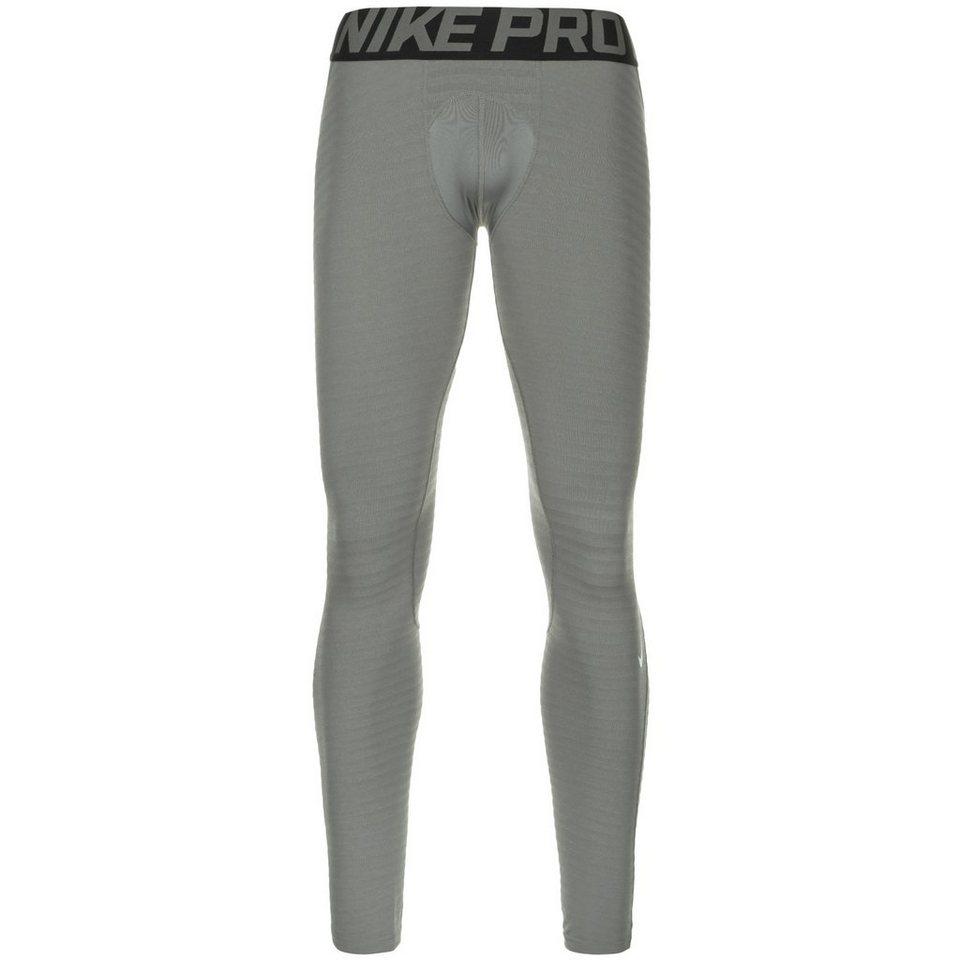 NIKE Pro Hyperwarm Trainingstight Herren in grau / schwarz