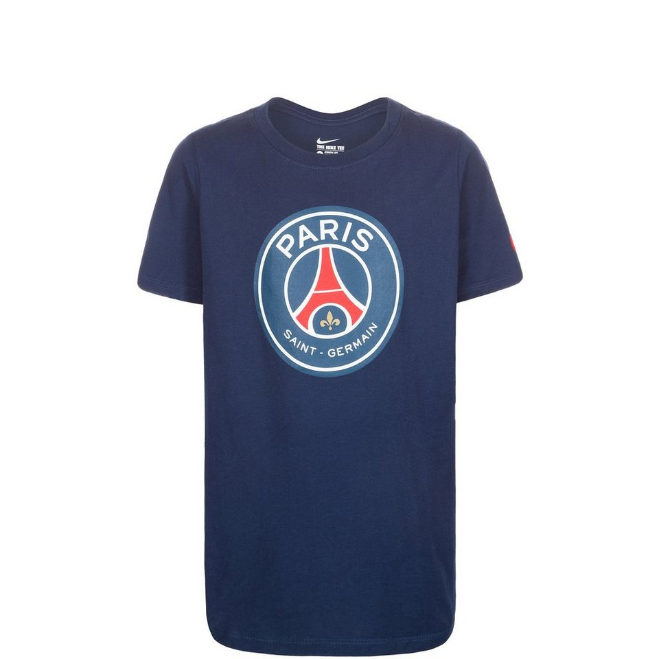 NIKE Paris Saint-Germain Crest T-Shirt Kinder in blau / weiß / rot
