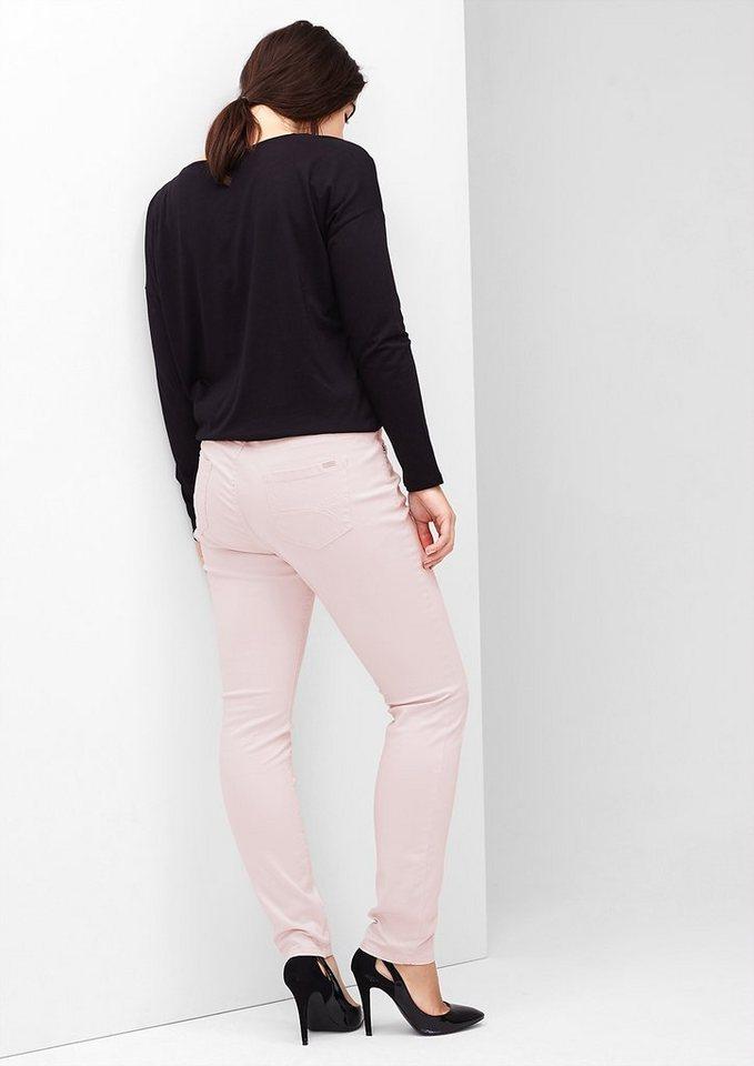 TRIANGLE Curvy: Hose aus Baumwollsatin in pale pink