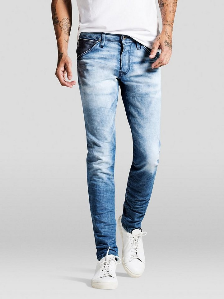 Jack & Jones Glenn fox bl 562 Slim Fit Jeans in Blue Denim