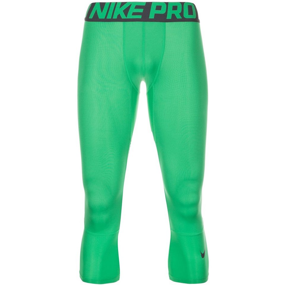 NIKE Pro Hypercool Three-Quarter Trainingstight Herren in grün / anthrazit