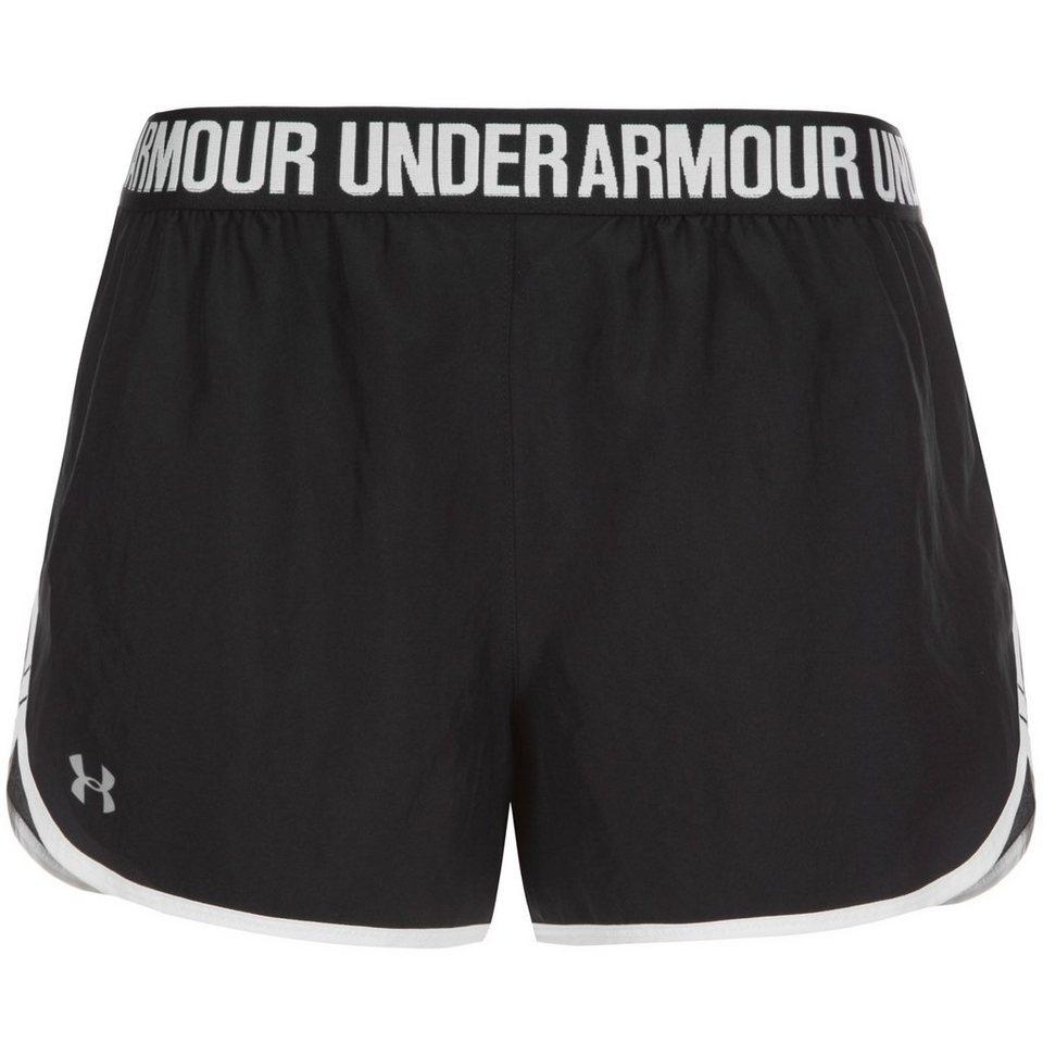 UNDER ARMOUR HeatGear Perfect Pace Laufshort Damen in schwarz / weiß