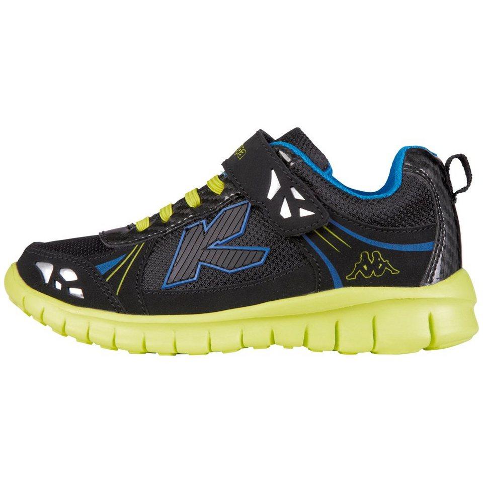 KAPPA Sneaker »BELLY LIGHT KIDS« in black/lime