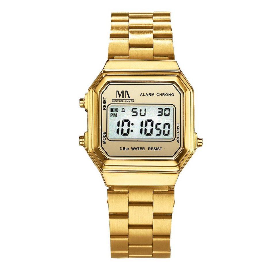 Meister Anker Armbanduhr »Metall vergoldet« in gelb