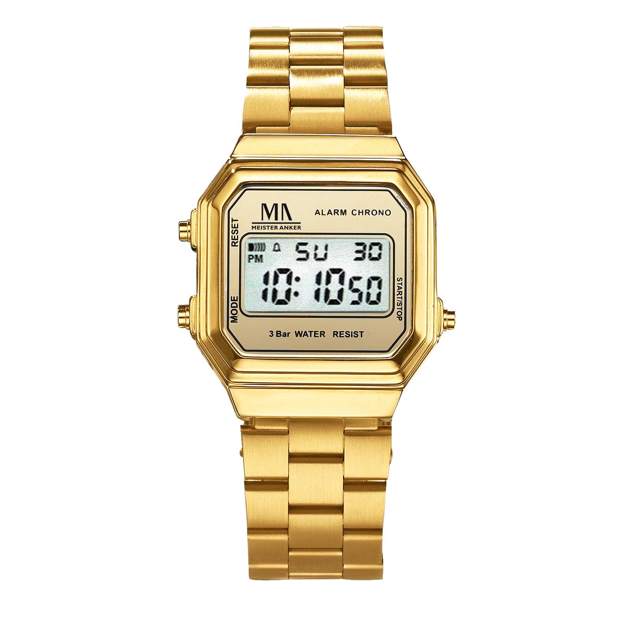 Meister Anker Armbanduhr »Metall vergoldet«