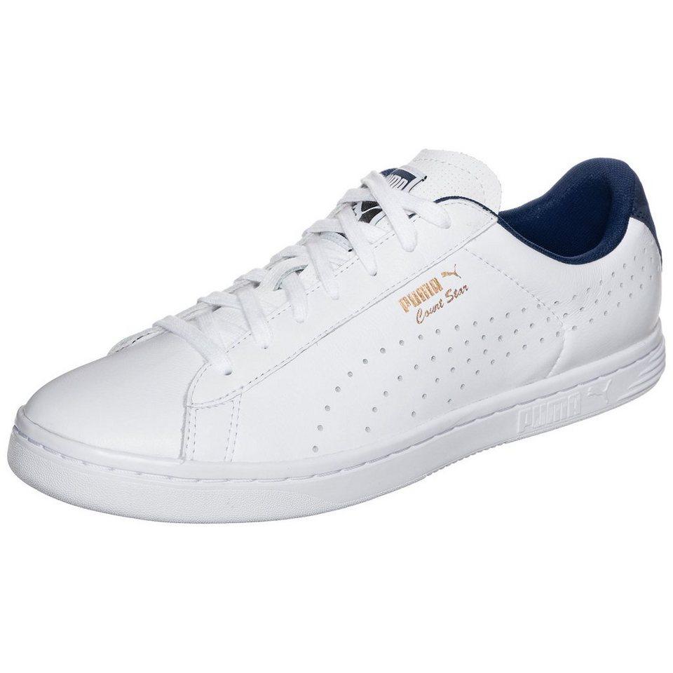 PUMA Court Star Crafted Sneaker in weiß / dunkelblau