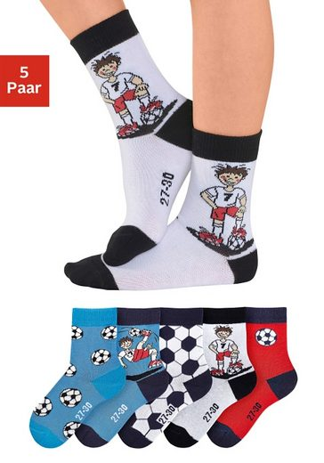 H.I.S Socken (5 Paar) mit Fußballmotiven