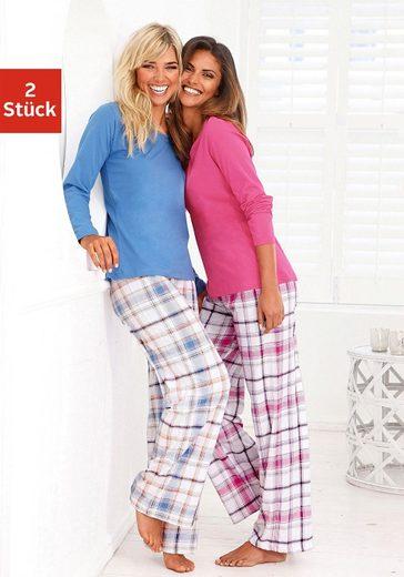 Arizona Schlafanzug (2 Stück) mit Hose im Karodesign