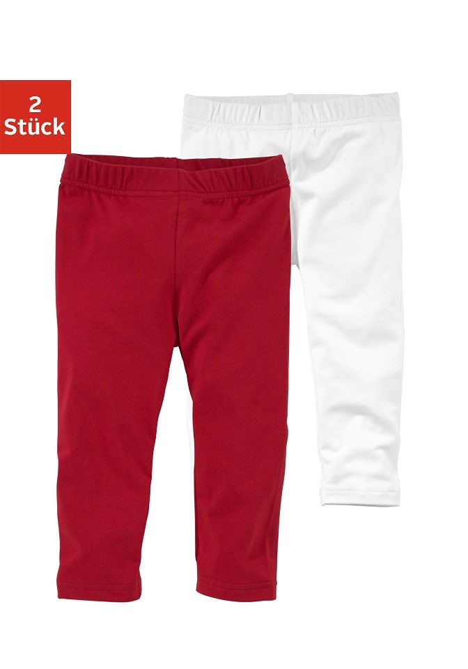 Kidoki Leggings 3/4 lang (Packung, 2 tlg.) in rot-weiß