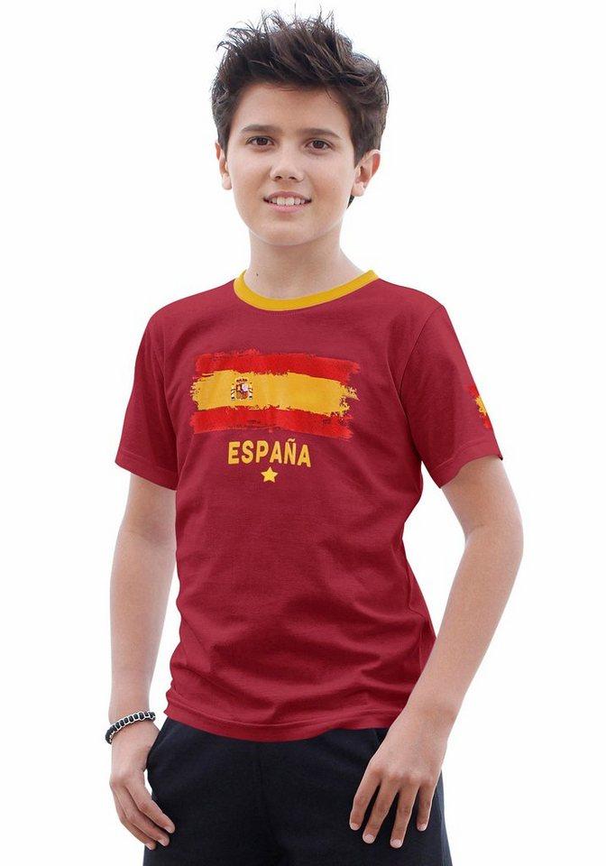 """KIDSWORLD T-Shirt Fanshirt """"España"""" in dunkelrot"""