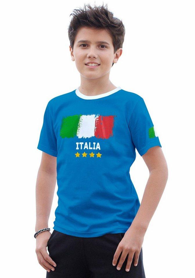 "KIDSWORLD T-Shirt Fanshirt ""Italia"" in blau"